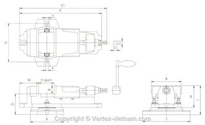 Bản vẽ Ê tô Vertex VK-4,VK-5,VK-6,VK-8