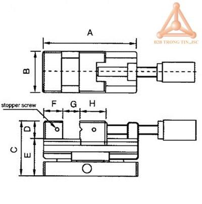 Bản vẽ Ê tô nghiêng 2 chiều SVS-100 hãng Vertex