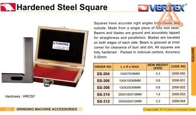 Chi tiết ke vuông hãng Vertex
