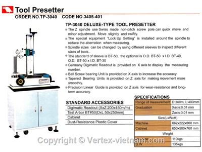 CHI TIẾT THIẾT BỊ ĐO KIỂM VERTEX TP-3040