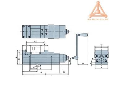 BẢN VẼ ÊTÔ CƯỜNG LỰC VQC-100LC; VQC-125LC; VQC-160