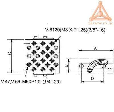 KICH THUOC BAN NGHIENG V-47, V-66, V-6120 VERTEX