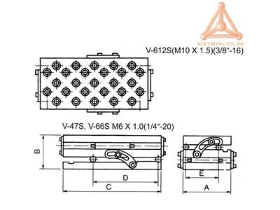 KICH THUOC BAN NGHIENG V-47S, V-66S, V-6122S VERTE