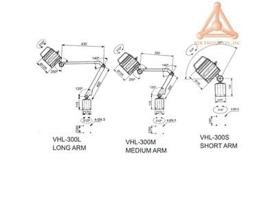 kich thuoc den halogen VHL-300L