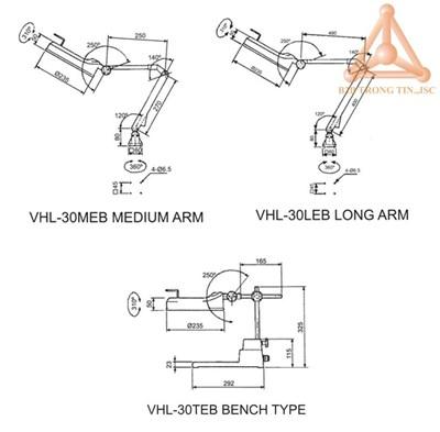 kich thuoc den huynh quang VHL-30MEB