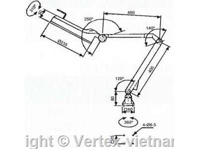 kich thuoc den huynh quang VHL-30LEB