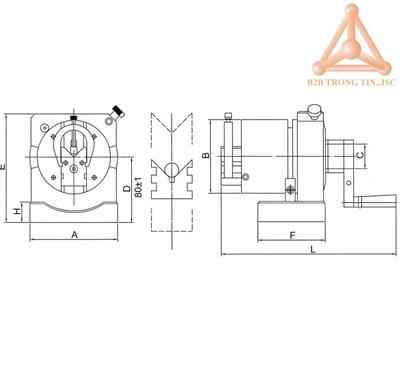 Bản vẽ thiết bị sửa đá có bàn nghiêng hãng Vertex