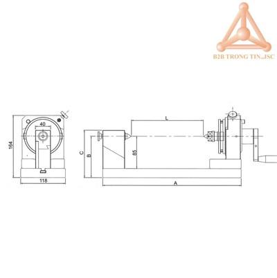 Bản vẽ thiết bị đo độ đồng tâm trục