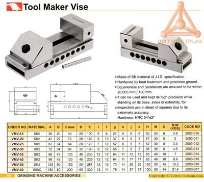 Chi tiết Ê tô kẹp trên máy mài mã VMV hãng Vertex
