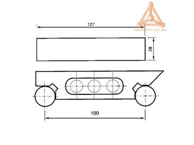 Bản vẽ Thanh góc nghiêng VS-100 hãng Vertex