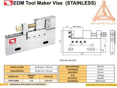 Chi tiết Ê tô máy EDM mã VSTV-100W hãng Vertex