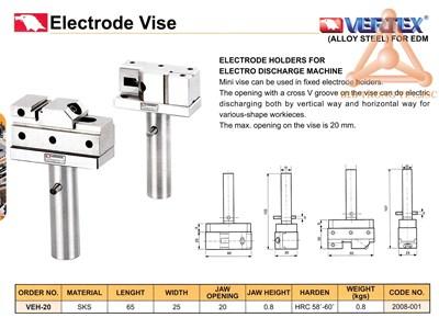 Chi tiết Ê tô kẹp điện cực EDM mã VEH-20 Hãng Vert