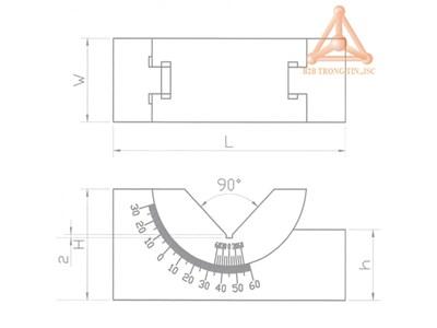 Bản vẽ khối V điều chỉnh góc độ được