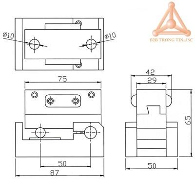 Bản vẽ đồ gá chỉnh góc nhiêng đá mài mã VP-50D hãn