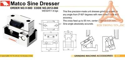 Chi tiết đồ gá chỉnh góc nhiêng đá mài mã VP-50D h