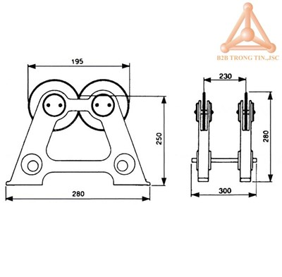 Bản vẽ thiết bị cân bằng động đá mài WBS-300 hãng