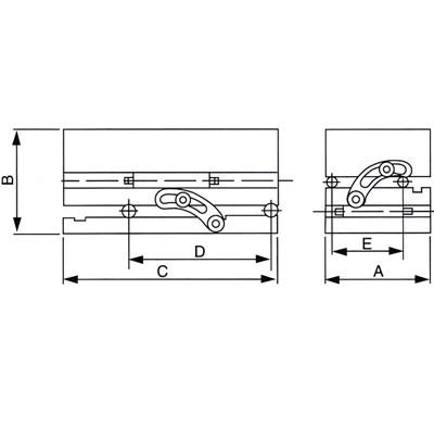 Bản vẽ bàn từ nghiêng hai chiều Vertex