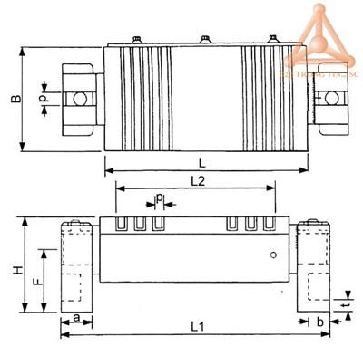 Bản vẽ Bàn từ xoay nghiêng mã VLU-510B, VLU-612B,