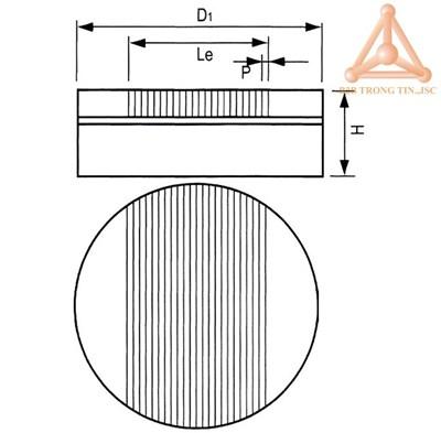 Bản vẽ bàn từ tròn hãng vertex