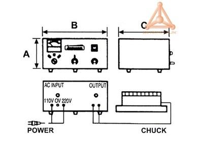 Bản vẽ bộ điều khiển bàn từ điện VCC-805A, VCC-815