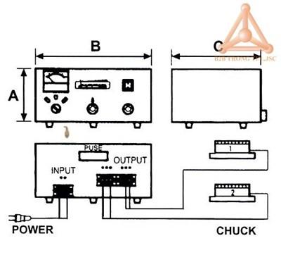 Bản vẽ bộ điều khiển bàn từ điện mã VCC-820 hãng V