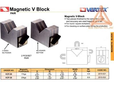chi tiết bộ khối v từ tính hãng Vertex