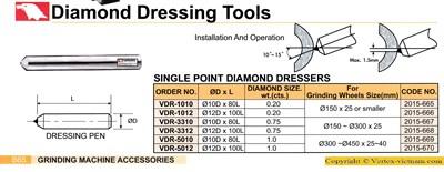 Chi tiết Mũi sửa đá kim cương hãng Vertex