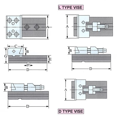 bản vẽ Má kẹp ê tô modul hãng Vertex