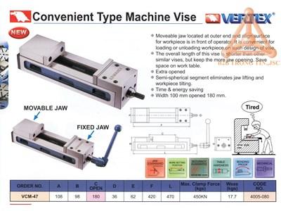 Chi tiết Ê tô máy loại thuận tiện hãng Vertex