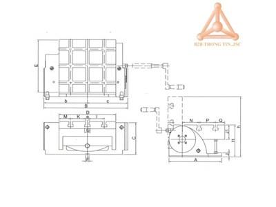 Bản vẽ bàn máy nghiêng hãng Vertex