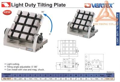Chi tiết Bàn máy nghiêng tải trọng nhẹ hãng Vertex