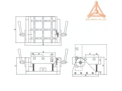 Bản vẽ Bàn máy nghiêng tải trọng nhẹ hãng Vertex