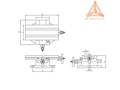 Bản vẽ Bàn máy chữ thập hãng Vertex
