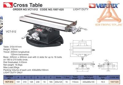 Chi tiết Bàn máy chữ thập hãng Vertex