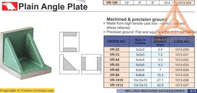 Chi tiết Tấm góc vuông phẳng hãng Vertex