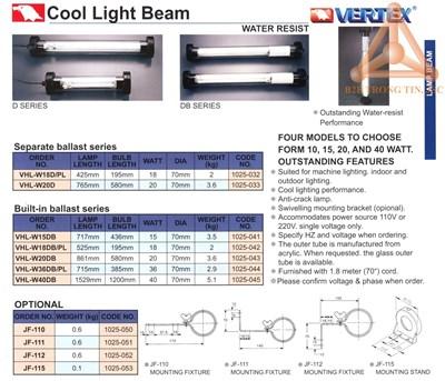 Chi tiết bóng đèn chống nước hãng Vertex