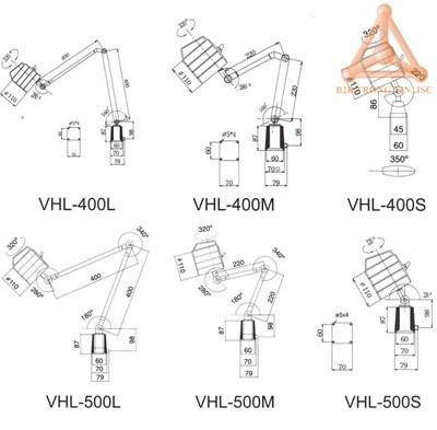 Bản vẽ đèn halogen chống nước hãng Vertex