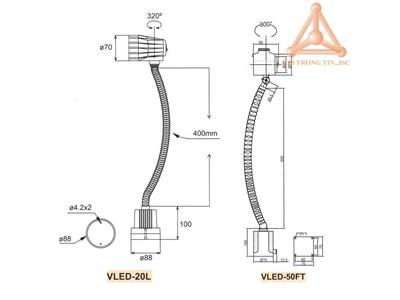 Bản vẽ Bộ đèn LED hãng Vertex