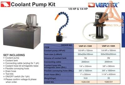 Chi tiết Bộ máy bơm dầu làm mát hãng Vertex