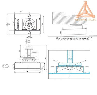 Bản vẽ Thiết bị giảm rung động máy VSA-150K