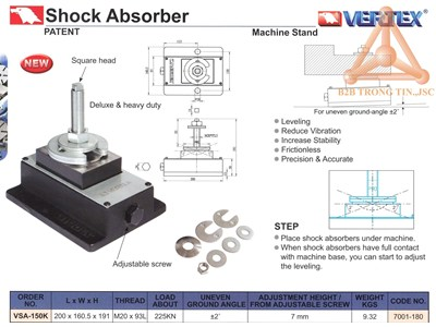 Chi tiết Thiết bị giảm rung động máy VSA-150K
