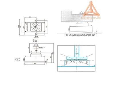 Bản vẽ Thiết bị giảm rung động máy VSA-150H