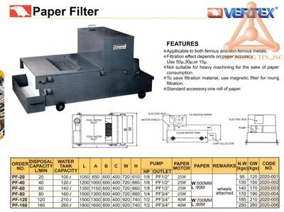 Chi tiết Bộ tách phoi bằng giấy lọc hãng Vertex