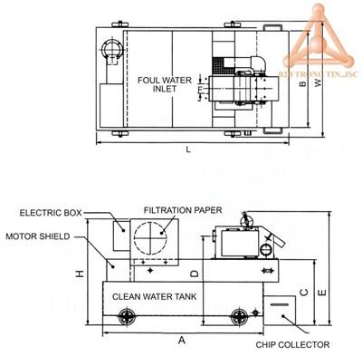 Bản vẽ Bộ tách pho kết hợp từ tính và giấy lọc hãn