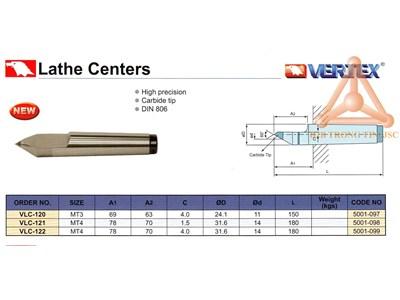 Chi tiết đầu chống tâm tĩnh hãng Vertex