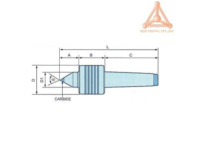 bản vẽ Đầu chống tâm máy tiện hãng Vertex