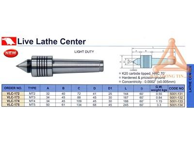 Chi tiết Đầu chống tâm máy tiện hãng Vertex