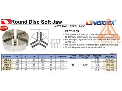 Chi tiết Chấu mềm dạng đĩa hãng Vertex