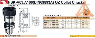 Chi tiết Bầu kẹp dao phay OZ HSK-DIN