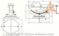 BẢN VẼ Ê TÔ XOAY HAI CHIỀU VWT-4B, VWT-6B